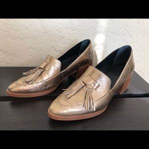 Gold Tassel Loafers